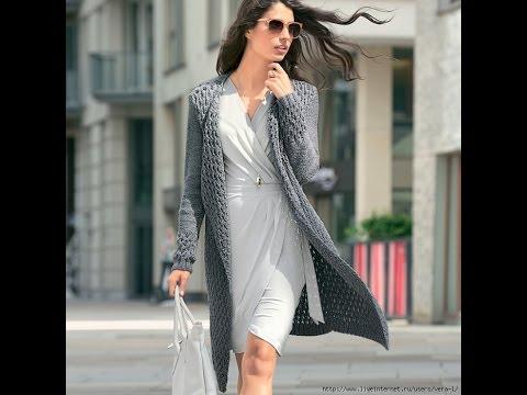 Женское Пальто, Связанное Спицами 2017 /Womens Coats Associated spokes /Damenmäntel Assoziierte