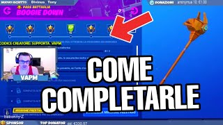 SFIDE BOOGIE DOWN PASS BATTLE SEASON 10 - GUIDE TO HOW COMPLETARLE (FORTNITE)