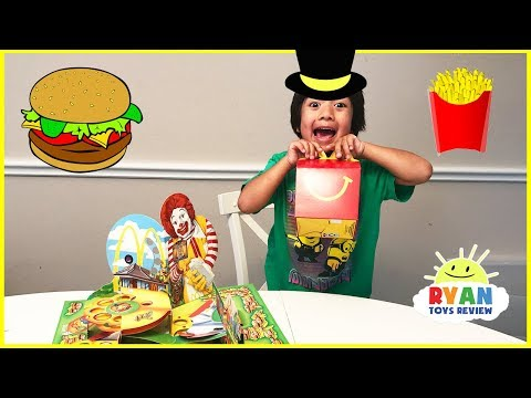 Thumbnail: McDonald's Playground Hamburglar board game! Family Fun Egg Surprise Toys with Ryan ToysReview