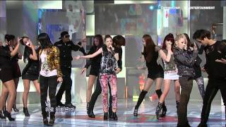 2NE1_0912_SBS Popular Music_GO AWAY [HD]