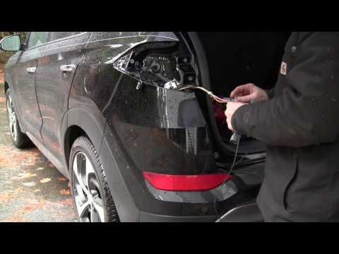 Trailer Hitch And Wiring On An 2016 Hyundai Tucson