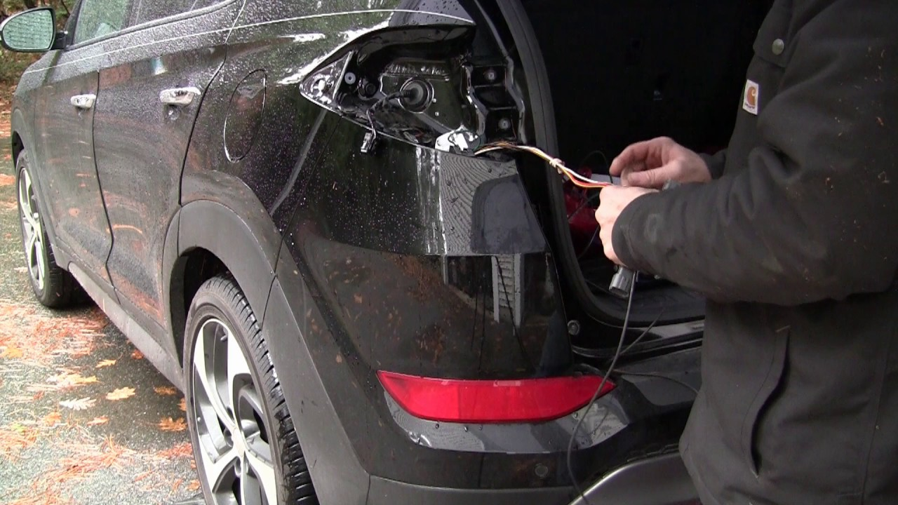 Trailer Hitch and wiring on an 2016 Hyundai Tucson  YouTube