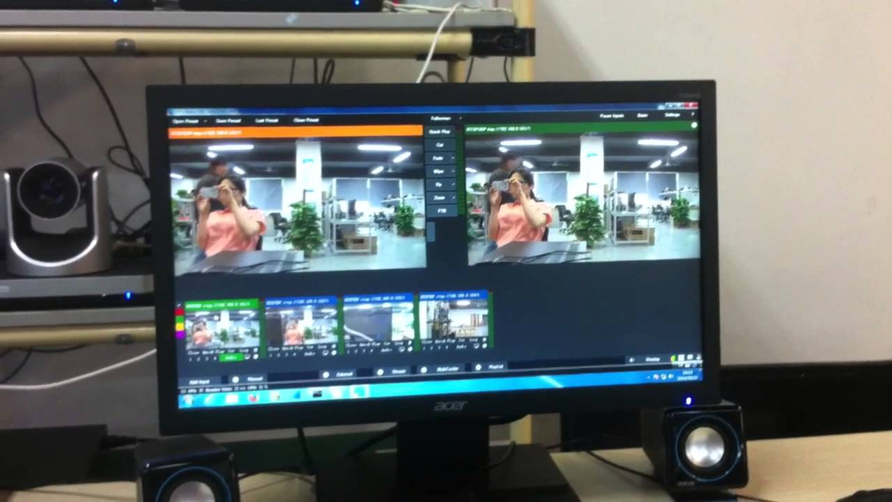 work with vMix - 4 IP cameras - YouTube