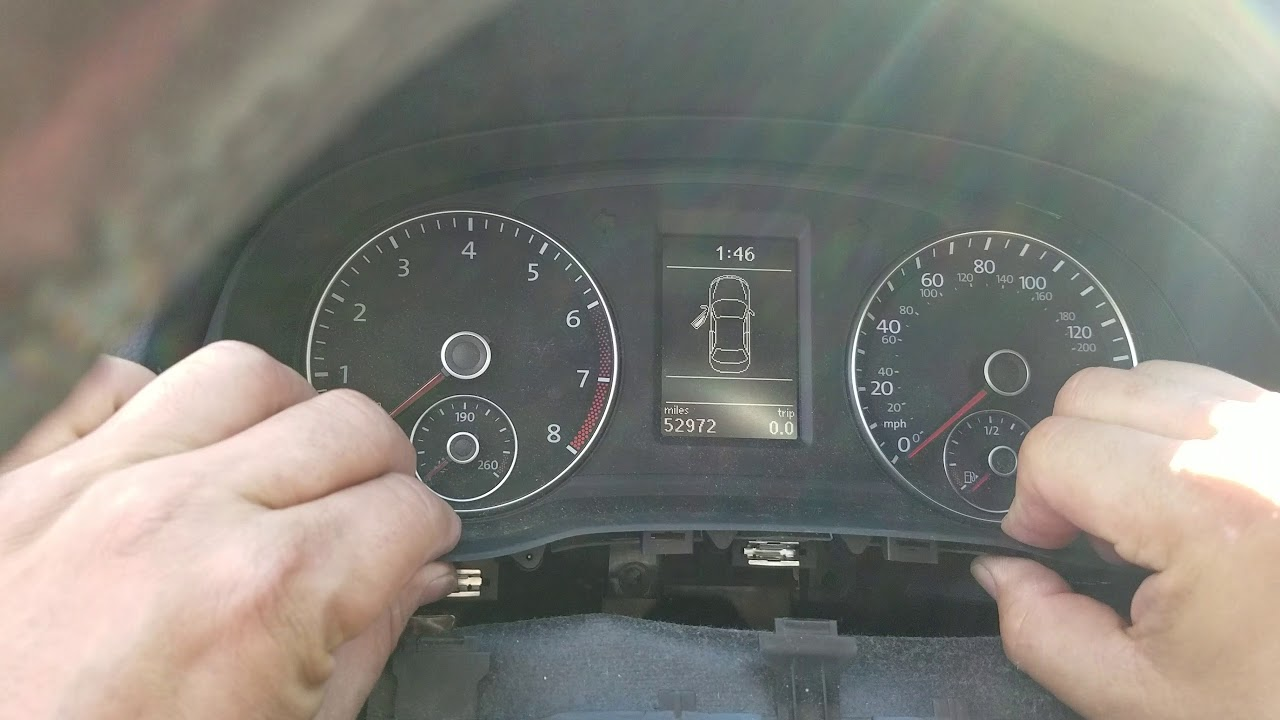 How to Remove Speedometer Cluster from VW Passat 2012 for Repair