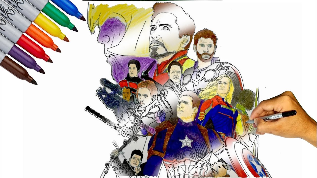 MARVEL AVENGERS ENDGAME // COLORING ALL AVENGERS ENDGAME ... | 720x1280