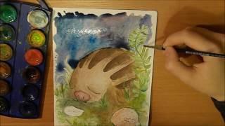 Drawing a Swinub! | Pokemon Speedpaint