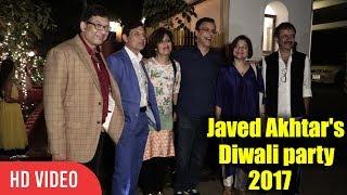 rajkumar Hirani And vidhu vinod Chopra At Javed Akhtar And Shabana Azmi Diwali Party 2017