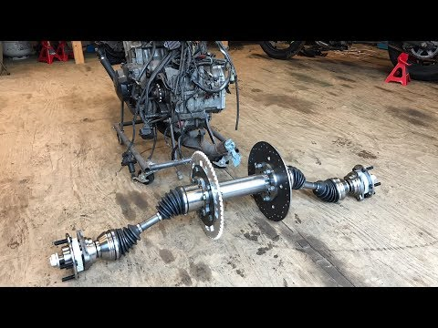 making a dune buggy CV rear axle setup part 2 - YouTube