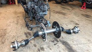 making a dune buggy CV rear axle setup part 2