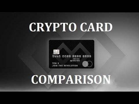 Crypto Card Comparison - CENTRA TECH, TENX, WIREX, MONACO, TOKENCARD, UQUID, XAPO, CRYPTOPAY