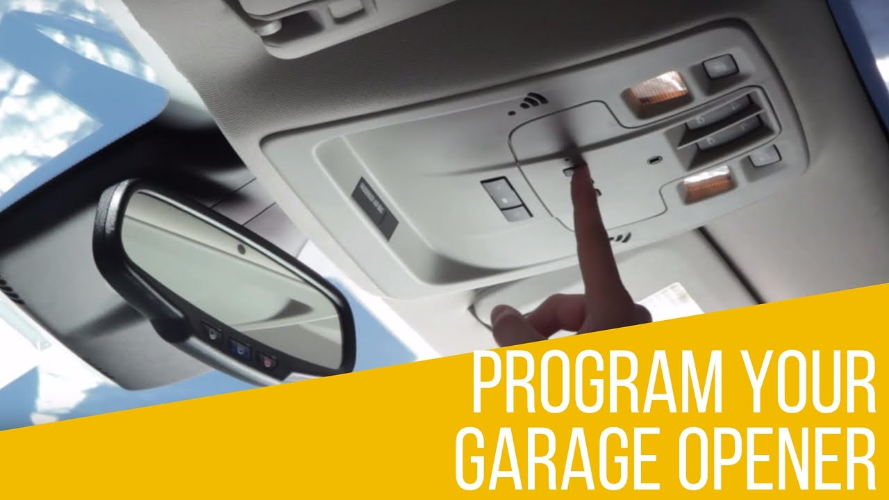 How to program garage opener in your chevrolet youtube rubansaba