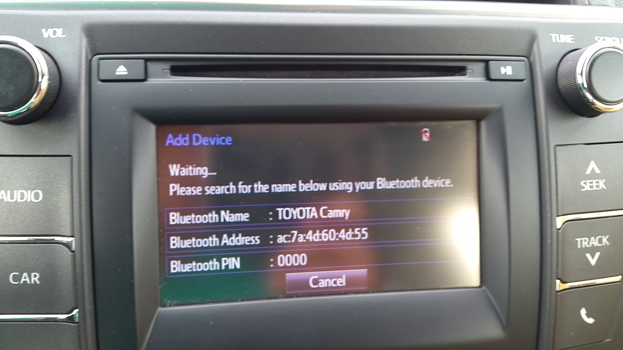 How To Connect Iphone 6 Toyota Camry 2016 Stereo Deck