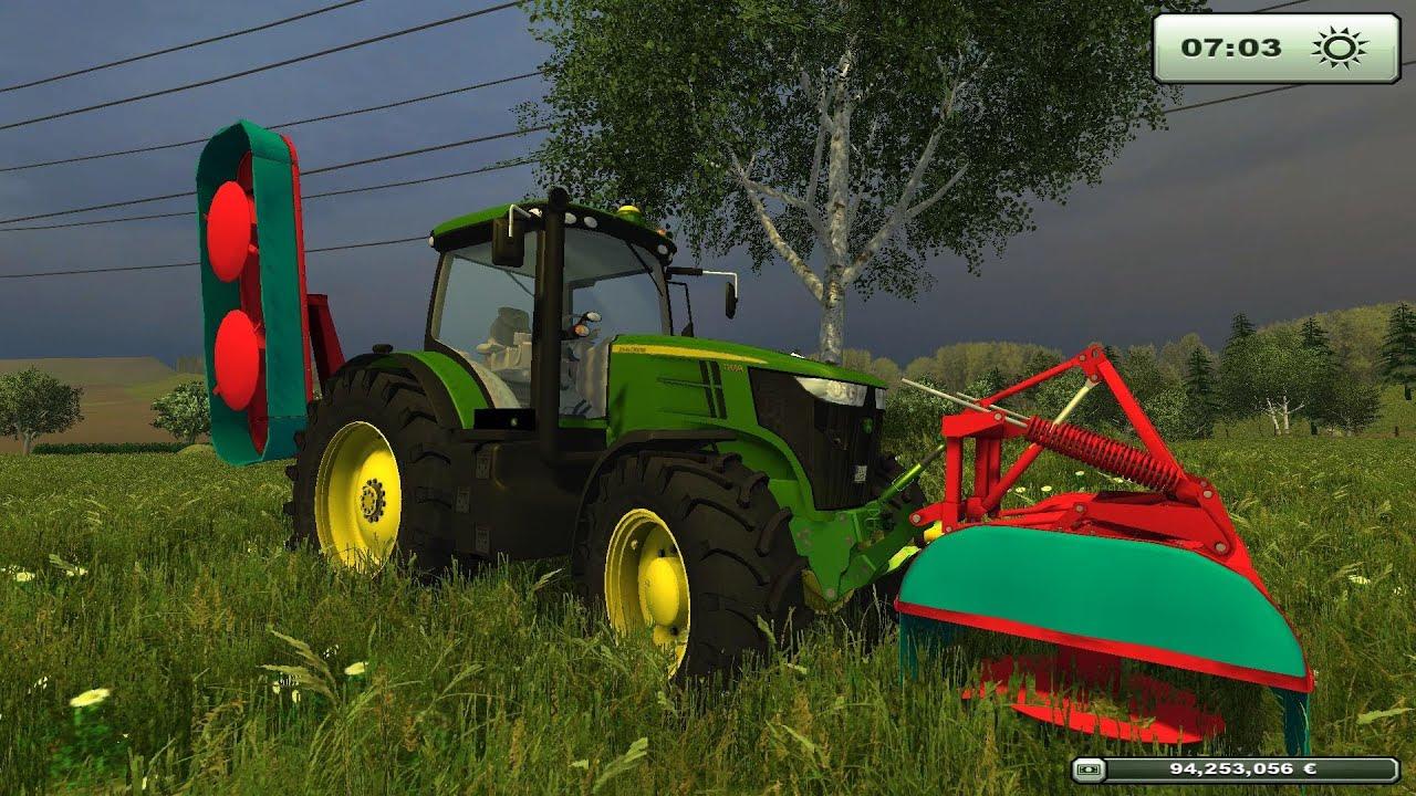 Farming simulator 2013 jd7260r sfalcio erba belgique profonde map