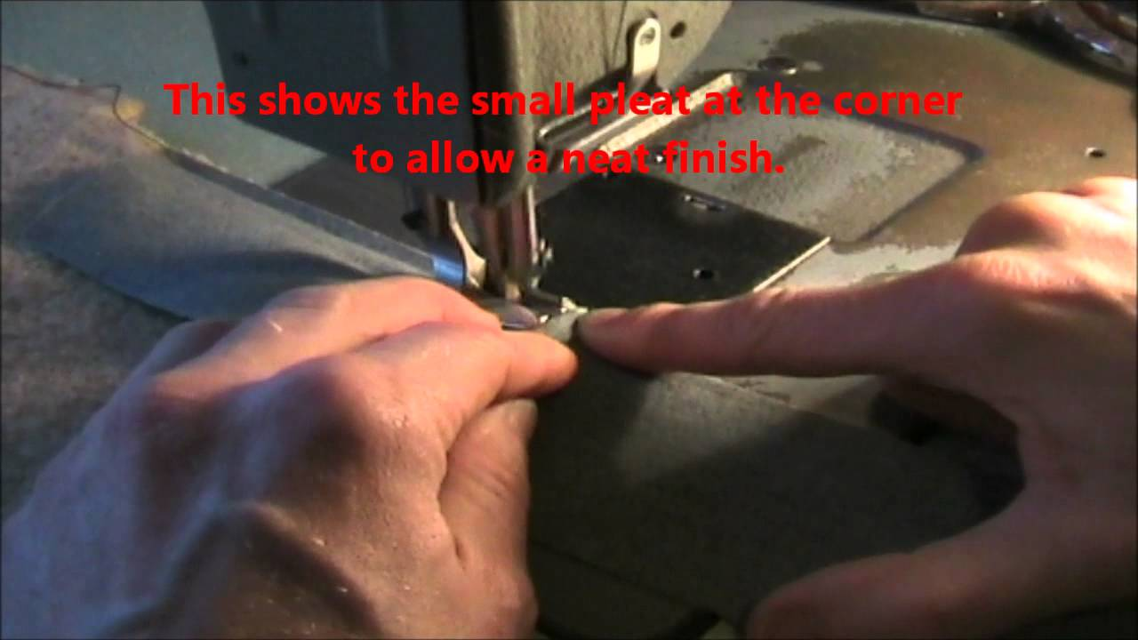 A Simple Way To Bind Edges On Classic Car Carpets Youtube