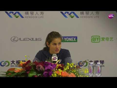 2017 WTA Elite Trophy Press-Conference | Julia Goerges