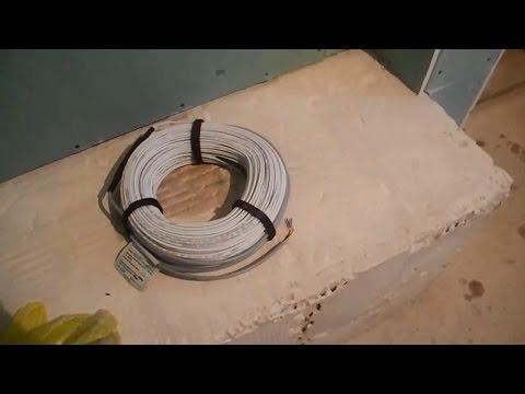 Как сделать электрический теплый пол ч.1