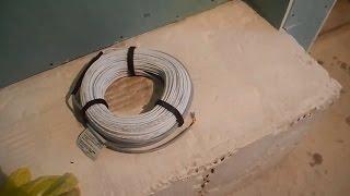 Как сделать электрический теплый пол ч.1(В этом видео показано как и с чего начать делать электрический теплый пол в душевой комнате в бане,своими..., 2015-12-14T20:34:08.000Z)