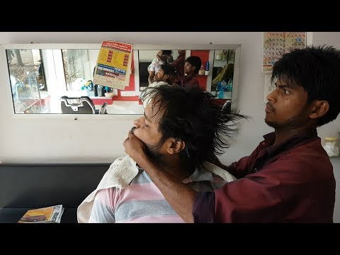 Apprentice head massage with first neck cracking
