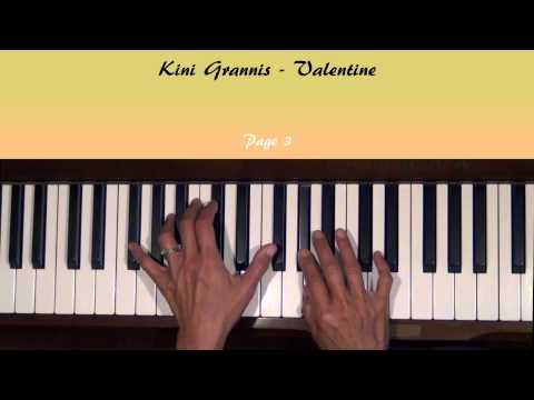 Valentine by Kina Grannis Piano Tutorial SLOW