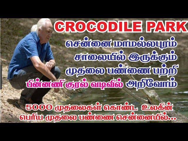 Madras crocodile bank chennai | சென்னை முதலை பண்ணை