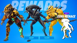 Fortnite Alien's Xenomorph Built-In Emote Xeno Menace with Legendary Skins!..