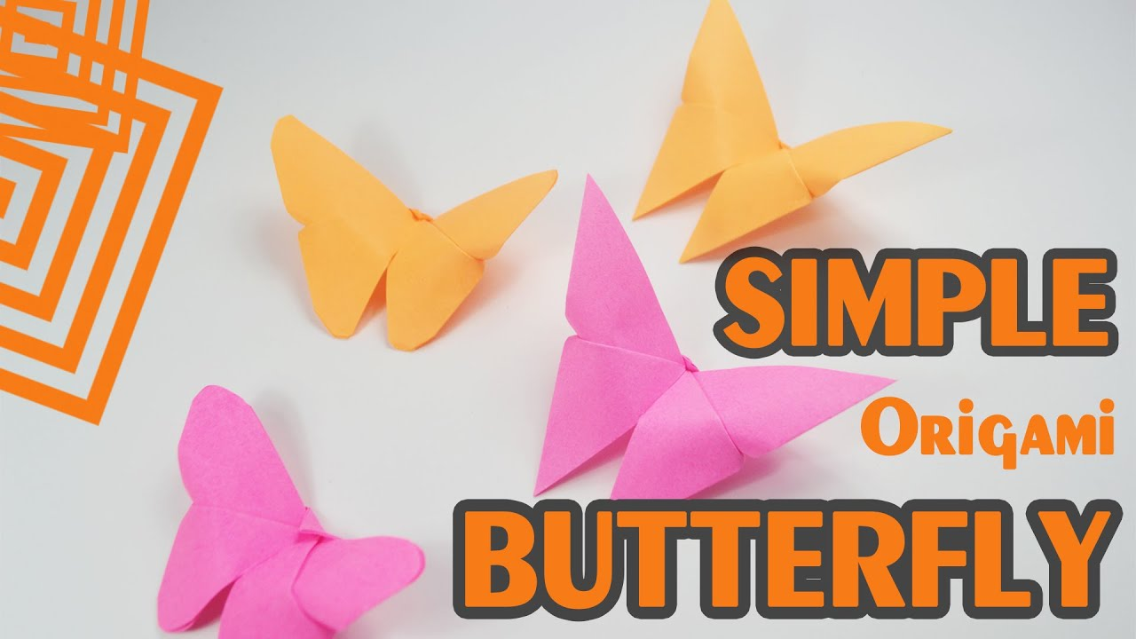 Super simple - Origami Butterfly - just 30s - YouTube - photo#24