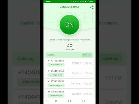 Call Blocker For Android - Block All Calls Not In Your Contacts