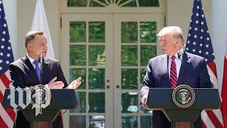 WATCH: Trump holds bilateral meeting with Polish President Andrzej Duda