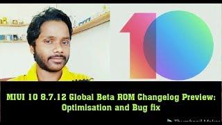 MIUI 10 8.7.12 Global Beta ROM Changelog Review: Optimization and Bug fix!! Hindi