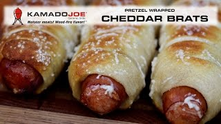 Kamado Joe Pretzel Wrapped Cheddar Brats