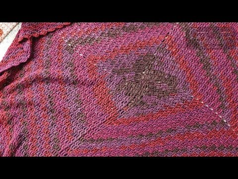 How to Crochet An Afghan: 🍰   Stacking Blocks Boho