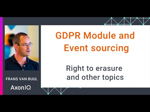 GDPR Module and Event sourcing