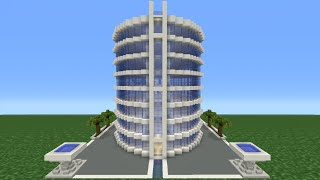 Minecraft Tutorial: How To Make A Modern Hotel -  2