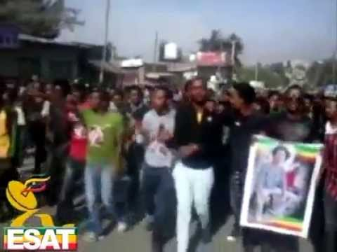 ESAT reportage on demonstration in Addis Ababa