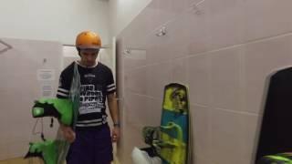 Вейкбординг в бассейне. Вейк основы. Уроки вейксерфинга. бассейн для кабельного вейкборда, обучение