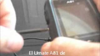 Umate A81 Teléfono M´vil Militar Dual SIM Todo Terreno con Cargador manual