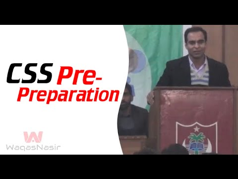 CSS Pre-Preparation | Qasim Ali Shah | Urdu/Hindi | WaqasNasir