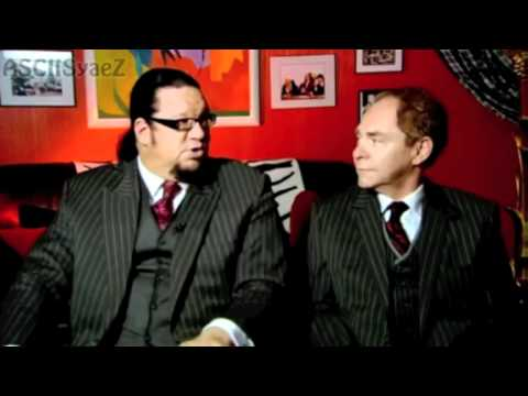Penn & Teller with Archer and Earl in Vegas.