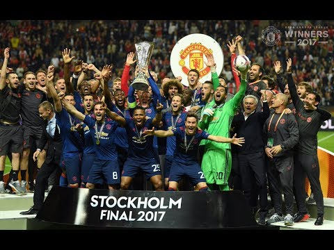 Europa league cup final 2017 celebrations - manchester united