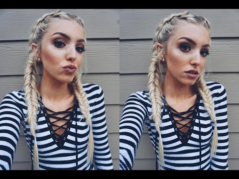 TUMBLR WORTHY: Dutch Into Fishtail Braids W/ Extensions ♡