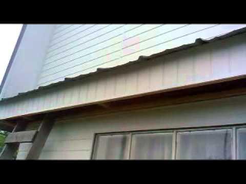 Обшивка дома вагонкой ПХВ. Boarding houses lining PVC