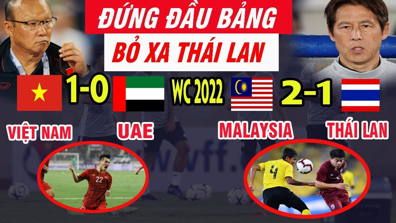 Kết Quả Bóng Đá Việt Nam vs UAE 1-0, Thái Lan vs Malaysia 1-2 Châu Á Nói Lời Bất Ngờ