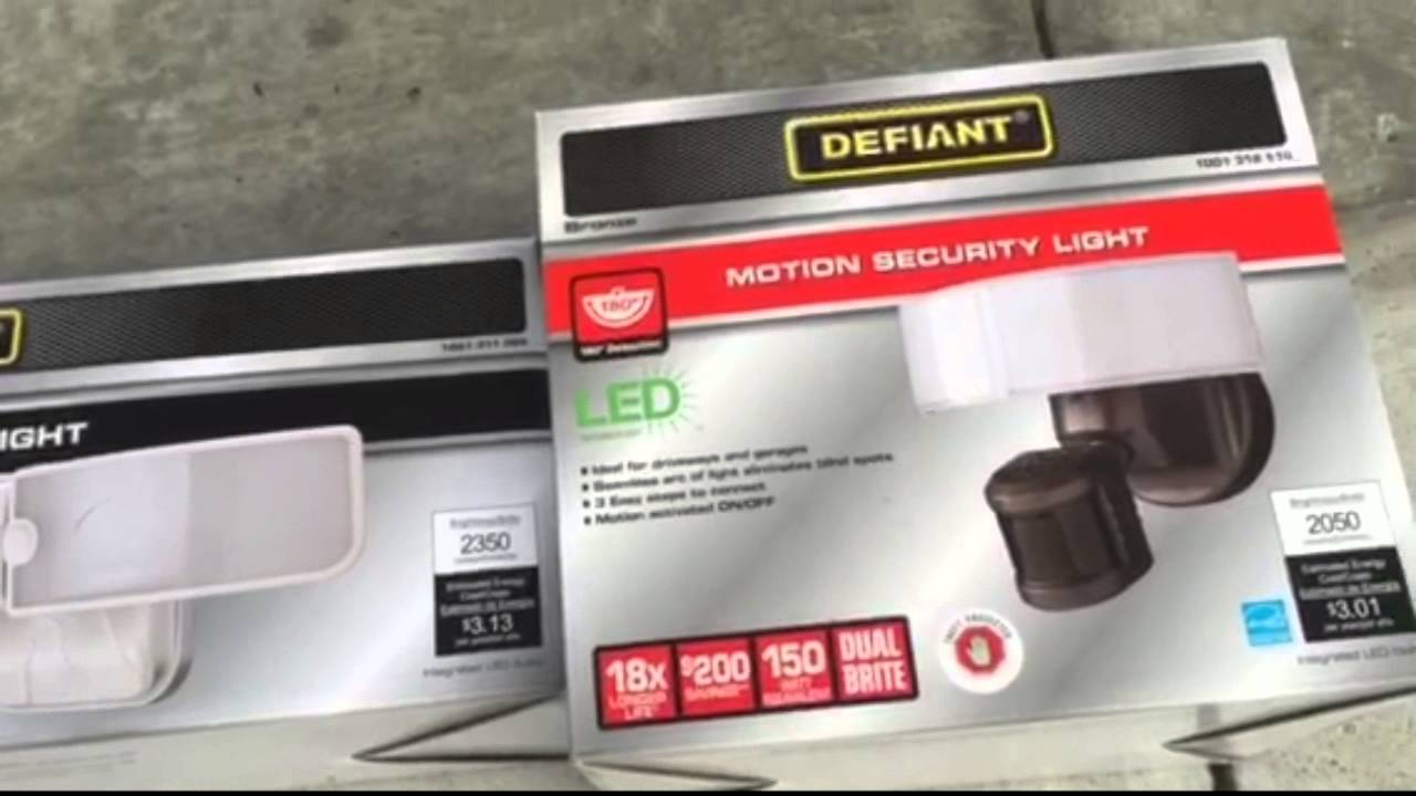 Defiant LED Switch Light and Motion Security Light - YouTube