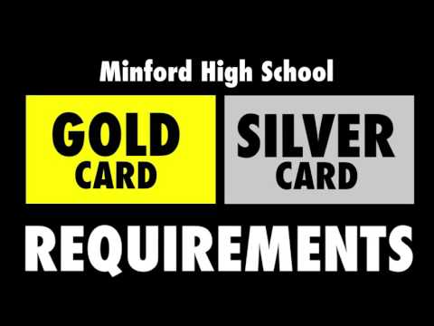 Gold/Silver Card Requirements - Minford High School