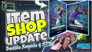 ⚽MenamesCho's LIVE 🔵 SOCCER 'FOOTIE' SKINS ⚽ ITEM SHOP UPDATE Fortnite Battle Royale 9th July 2019