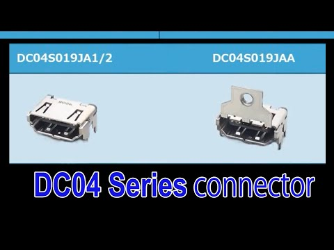 Receptacle with Mounting Flange Has Been Added to the HDMI 2.1 Compatible DC04 Series