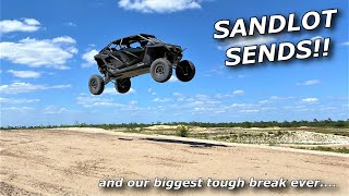 X3, Turbo Talon, and Pro XPs race at the SANDLOT! (and our biggest tough break ever)