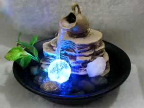 Fuente de agua feng shui energia positiva c luz for Fuente agua feng shui