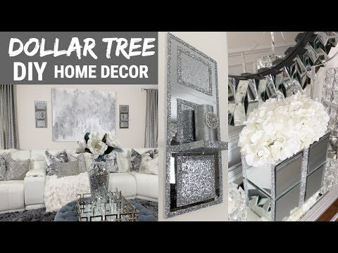 DIY Home Decor Ideas | Dollar Tree DIY Mirror Wall Decor | DIY Glam Decor
