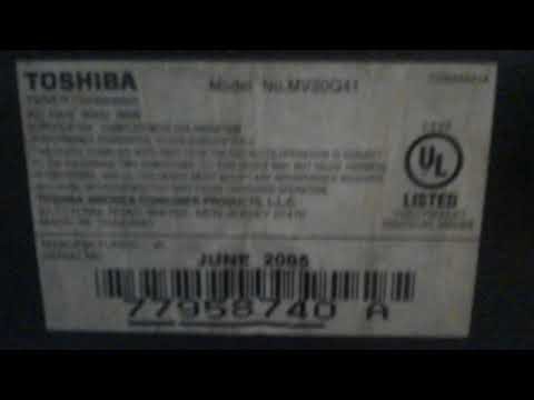 Toshiba TV VCR Combo Review Part 1